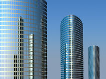 Tres altos edificios Fotos de archivo libres de regalías