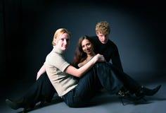 Tres amigos Imágenes de archivo libres de regalías