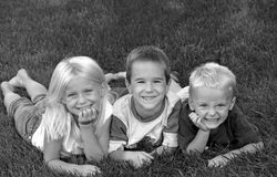 Tres amigos Fotos de archivo libres de regalías