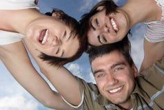Tres amigos Foto de archivo