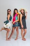 Tres amigos del verano Imágenes de archivo libres de regalías