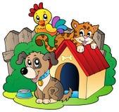 Tres animales domésticos ilustración del vector