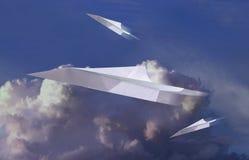 Tres aviones de papel Imagen de archivo libre de regalías