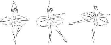 Tres bailarinas ilustración del vector