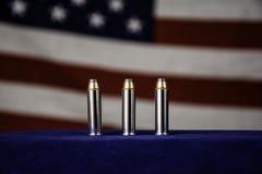 Tres balas Fotografía de archivo libre de regalías