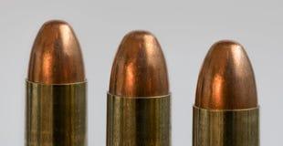Tres balas Fotos de archivo