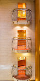 Tres balcones interiores Foto de archivo