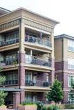 Tres balcones y patios Foto de archivo libre de regalías