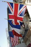 Tres banderas fotos de archivo