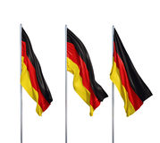 Tres banderas de Alemania Imagen de archivo