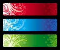 Tres banderas de la Navidad ilustración del vector