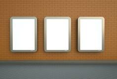 Tres banderas de pared Fotografía de archivo