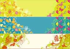 Tres banderas del verano ilustración del vector