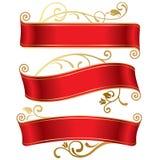 Tres banderas rojas libre illustration