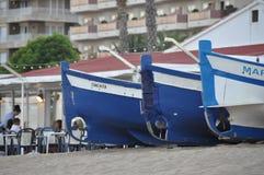 Tres barcos fotografía de archivo libre de regalías
