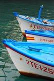 Tres barcos de pesca Imágenes de archivo libres de regalías