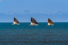 Tres barcos de vela Fotografía de archivo