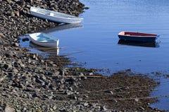 Tres barcos en Marblehead, mA Fotos de archivo