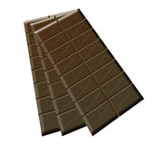 Tres barras de chocolate Fotografía de archivo libre de regalías