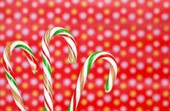 Tres bastones de caramelo Imagen de archivo libre de regalías