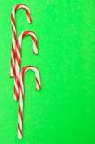 Tres bastones de caramelo Foto de archivo libre de regalías