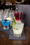 Tres bebidas mezcladas Imagen de archivo
