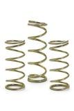 Tres bobinas del resorte del metal Imagenes de archivo