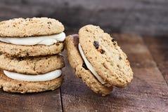 Tres bocadillos de las galletas de la torta de zanahoria Imagen de archivo libre de regalías