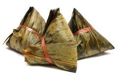 Tres bolas de masa hervida del arroz Foto de archivo libre de regalías