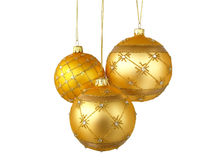 Tres bolas del oro Imagen de archivo libre de regalías