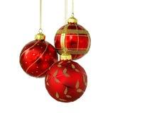 Tres bolas rojas Imágenes de archivo libres de regalías