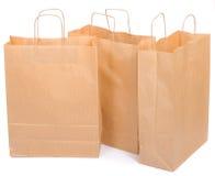 Tres bolsas de papel ecológicas Fotos de archivo libres de regalías