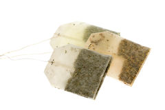 Tres bolsitas de té imagen de archivo