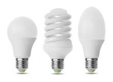 Tres bombillas Imagen de archivo