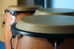 Tres bongos viejos Foto de archivo libre de regalías