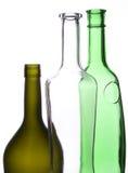 Tres botellas Imágenes de archivo libres de regalías
