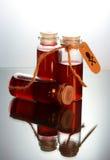 Tres botellas con el veneno Imagen de archivo libre de regalías