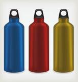 Tres botellas de agua Fotografía de archivo libre de regalías