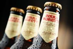 Tres botellas de Birra Moretti Fotografía de archivo libre de regalías