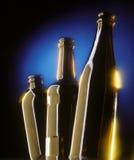 Tres botellas de cerveza Imagen de archivo libre de regalías