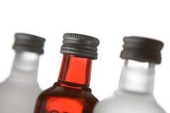 Tres botellas de cristal Fotografía de archivo libre de regalías