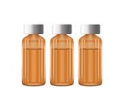 Tres botellas de medicina Fotografía de archivo libre de regalías