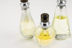 Tres botellas de perfume hermosas Fotografía de archivo libre de regalías