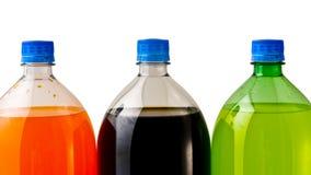 Tres botellas de soda fotografía de archivo