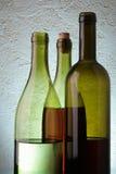 Tres botellas de vino Foto de archivo
