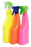 Tres botellas del aerosol Fotografía de archivo libre de regalías