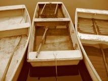Tres botes de remos Imagen de archivo libre de regalías