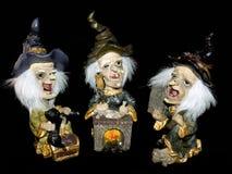 Tres brujas, víspera de Todos los Santos. imagen de archivo libre de regalías