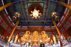 Tres buddha de oro Imágenes de archivo libres de regalías