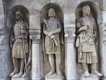 Tres caballeros medievales en Hungría foto de archivo libre de regalías